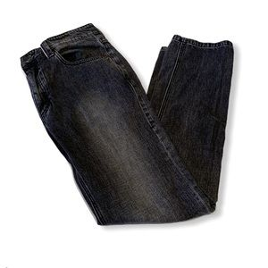 Carbon2cobalt gray black wash button fly jeans